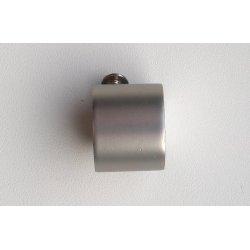 Finial Kork 19mm matte silver color