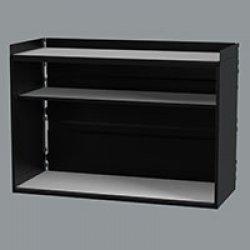 Cabinet Oak grey, excl slot, 793x563x343 mm incl shelves, black